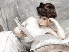 ✉ Biblio Beauties ✉ paintings of women reading letters & books - Frédéric Dufaux