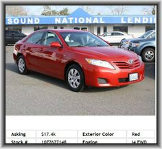 2011 Toyota Camry Base Sedan  Cargo Tie Downs, Side Airbag, Tire Pressure Monitoring System, Fuel Consumption: City: 22 Mpg, Rear Stabilizer Bar: Regular, Headlights Off Auto Delay, Front And Rear Suspension Stabilizer Bars, Regular Front Stabilizer Bar, Engine Immobilizer, Window Grid Antenna, Tachometer, Mp3 Player, Fuel Capacity: 18.5 Gal., Wheelbase: 109.3, 4-Wheel Abs Brakes, Front Ventilated Disc Brakes, Tires: Speed Rating: V, Independent Rear Suspension