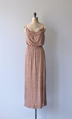 ShangriLa dress vintage 1970s dress 1970s goddess by DearGolden
