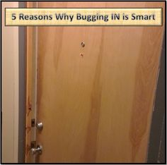 In a crisis, bugging out may not be the best choice. In fact, bugging in, staying at home, may be the smartest move.