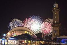 Fireworks in Warnemünde @ Hanse Sail Rostock.  Foto: Hanse Sail Rostock/Lutz Zimmermann