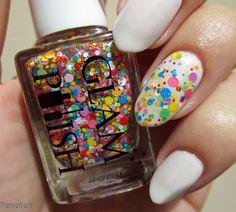 Glitter - Glam Polish Insane Clown Poppy Base colour - Wibo Extreme Nails nr 400