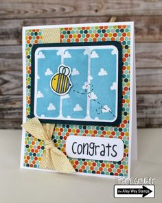 Tracy Mae Design: Congrats // The Alley Way Stamps, TAWS, clear stamps, stamping, Got It Covered, Priceless Joy