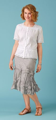 Clearance Sale - White Embroidery and Lace Top