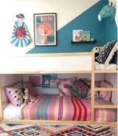 42 Fascinating Shared Kids Room Design Ideas - Planning a kid's bedroom design can be a lot of fun. It can also be a daunting task as you tackle the issue of storage and making things easy to clean. Boy And Girl Shared Room, Shared Rooms, Childrens Bedrooms Shared, Cama Ikea Kura, Ikea Trofast, Kids Room Design, Boy Room, Girl Rooms, Girls Bedroom