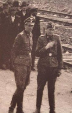 Josef Mengele - if this is him - he is on the right - this is where we meet him in Joseph Mengele, Past Life Memories, The Third Reich, World War Two, Ww2, Beast, Germany, Russia, History