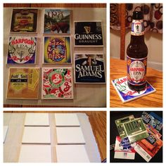 Use leftover six pack beer holders to make your own beer themed co. Use leftover six pack beer holders to make your own beer t Diy Arts And Crafts, Crafts To Make, Clear Epoxy Resin, Diy Epoxy, Leftover Tile, Felt Cushion, Make Your Own Beer, Bottle Cap Art, Tile Crafts