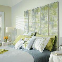 Cabeceira de cama artesanal – Faça em casa #cabeceira #cama #quarto  http://www.revistaartesanato.com.br/pintura/cabeceira-de-cama-artesanal-faca-em-casa/06
