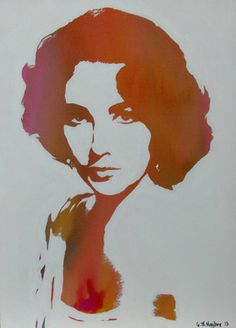 "Saatchi Online Artist Gary Hogben; Painting, ""Technicolour Elizabeth Taylor"" #art"