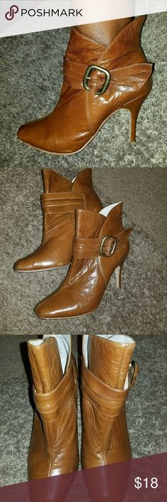 Facade Tan Leather Booties Great Ankle Boots Facade Shoes Ankle Boots & Booties