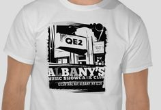 Vintage T-Shirt design for a music venue in Albany, NY #qe2 #tshirt #logo