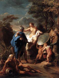 Vénus présentant à Énée l'armure forgée par Vulcain !