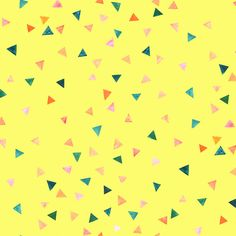 nunocoto fabric:party(イエロー) Graphic Design, Abstract, Wallpaper, Illustration, Artwork, Party, Fabric, Prints, Pattern