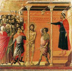 Duccio di Buoninsegna, Flagellation (scene 16), 1308