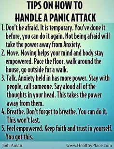 Panic Attack Tip