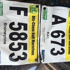 Dischem half marathon. 1:45 & 2:56.