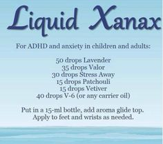 Liquid Xanax with Young Living essential oils - safe for children & adults & non addictive! Have some questions? Young Living Distributor by (diy bath salts young living) Doterra Essential Oils, Natural Essential Oils, Essential Oil Blends, Yl Oils, Adhd Oils, Natural Oils, Au Natural, Natural Living, Health And Wellness