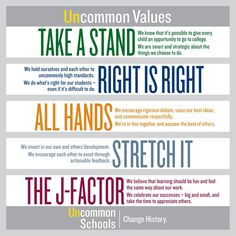 Uncommon Schools' core values School Leadership, Educational Leadership, Teaching Quotes, Teaching Aids, Science Classroom, Kindergarten Classroom, Uncommon Schools, Teach Like A Champion, Educational Administration