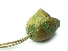 Artisan CeramicPorcelain  Bead Pod large by greybirdstudio on Etsy, £27.00