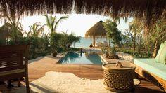 Plunge Pool Overlooking The Sea at Infinity Beach Villa at Azura Benguerra Island, Mozambique Audley Travel, Boutique Retreats, Beach Villa, Thatched Roof, Desert Island, Parc National, Island Resort, Summer Travel, Luxury Travel