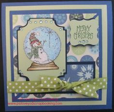 Snowman Snow Globe DIY Card   This snowman snow globe design is perfect for all of your handmade Christmas cards!