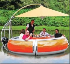 Barbecue dining boat | #TreatYoSelf | #ParksandRec