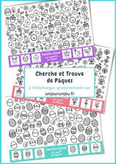 Cherche et Trouve de Pâques Easter Worksheets, French Worksheets, Easter Activities, Spring Activities, Worksheets For Kids, Math Worksheets, Activities For Kids, Egg Hunt, Easter Eggs