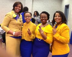 Find appropriate blue and gold attire for Sigma events.