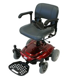 Betterlife Capricorn Portable Electric Power Chair Travel Wheelchair - Red: Amazon.co.uk: Health & Personal Care