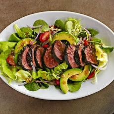 Beef Tenderloin Salad with Tomatoes and Avocado Recipe