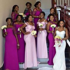 Stunning and Gorgeous Wedding Ideas Bridesmaid Magenta Bridesmaid Dresses, Black Bridesmaids, Wedding Bridesmaids, Magenta Wedding, Wedding Colors, Wedding Attire, Wedding Gowns, Wedding Bells, Wedding Wishes