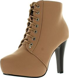 Top Moda Polish-6 Womens Lace-Up Hidden Platform Ankle Boots - http://all-shoes-online.com/top-moda/top-moda-polish-6-womens-lace-up-hidden-platform
