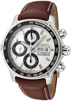 Ebel 9750L62/63B35P11 Men's 1911 Discover Automatic Chronograph Brown Leather Watch  http://www.originalwatchstore.com/brand/ebel/