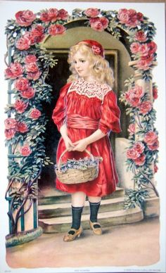 http://www.ebay.com/itm/art-print-MAY-FLOWERS-Victorian-girl-in-red-roses