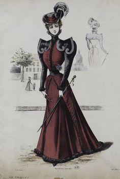 1897 victorian fashion plate
