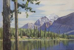 Mount Temple from Herbert Lake 20/50 by Walter Joseph Phillips