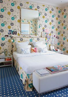 ... the bedroom of Sisley cosmetics vice president, Christine d'Ornano