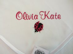 Custom Personalized Lady Bug and Name Baby by RiginalsByRuth, $70.00