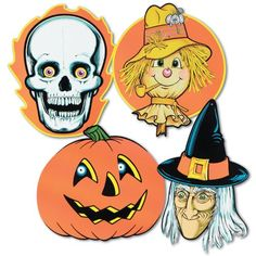 beistle 01063 halloween cutouts 14 19 24 pieces per package niftywarehousecom - Beistle Halloween Decorations