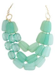 Mint Jewel Layer Necklace