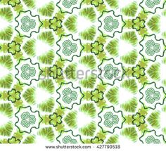 Seamless abstract wall-paper, green. A decorative sample, the press for fabric, packing paper, interior design, a background. Basis for design.