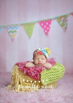 Fairy Flight - Coral Pink Aqua Blue Yellow Floral Rosettes Lace Headband - Glitter - Girls Newborns Baby Infant Adults