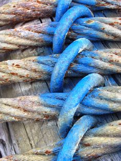 Blue painted ropes