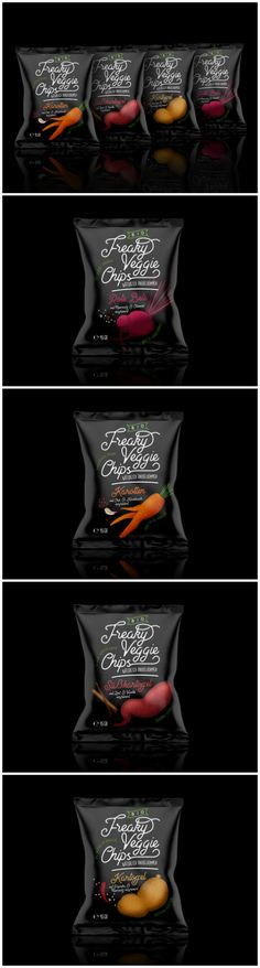 Vegetable Freak Show with New Freaky Brand for Veggie Chips Design Agency: TIBOR+  Design: Tibor Hegedues Location: Germany Category: #snacks #Food  World Brand & Packaging Design Society http://Worldpackagingdesign.com/blog/2018/3/7/vegetable-freak-show-with-new-freaky-brand-for-veggie-chips