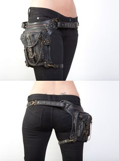 hip bag - a must for man and woman! #steampunk #goth #fashion #costume