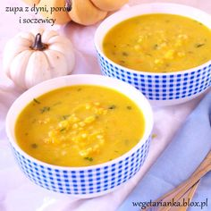 zupa z dyni, porów i soczewicy Healthy Dinners, Soup Recipes, Favorite Recipes, Ethnic Recipes, Food, Clean Dinners, Essen, Meals, Healthy Meals