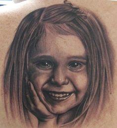 Tattoos - Steve Wimmer - Portrait of Her Daughter