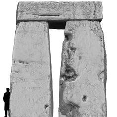 Stonehenge. Inside view, Trilithon Two, Stonehenge.