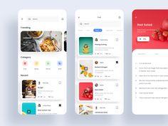 Food App designed by Anggiat Manuel for Pixelz Studio. Connect with them on Dribbble; Web Design, App Ui Design, Interface Design, User Interface, Design Layouts, Flat Design, Graphic Design, Design Thinking, Motion Design
