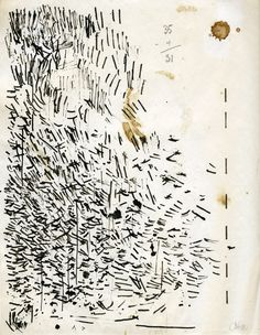 JOHN CAGE Cleaning My Pen Drawing